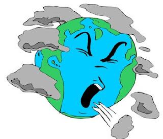 الارض تتلوث واخطار الأحتباس الحراري