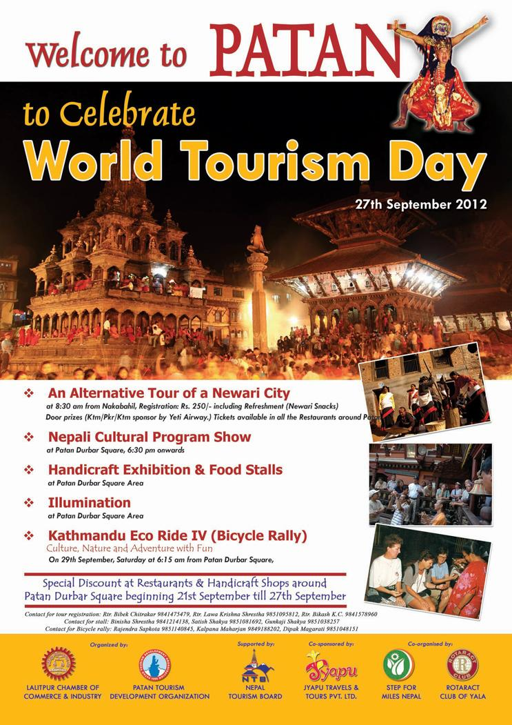 Patan tour, world tourism day, Nepal, Lalitpur, official poster
