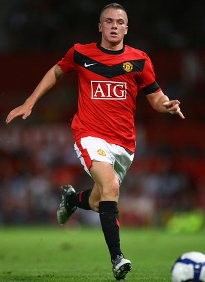 Tom Cleverley Manchester United Midfielder 2011-2012