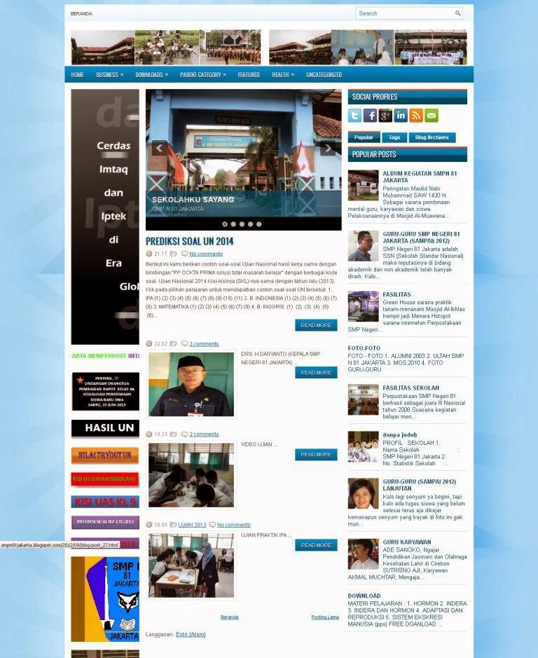Paket Website Sekolah Gratis dengan Blogger