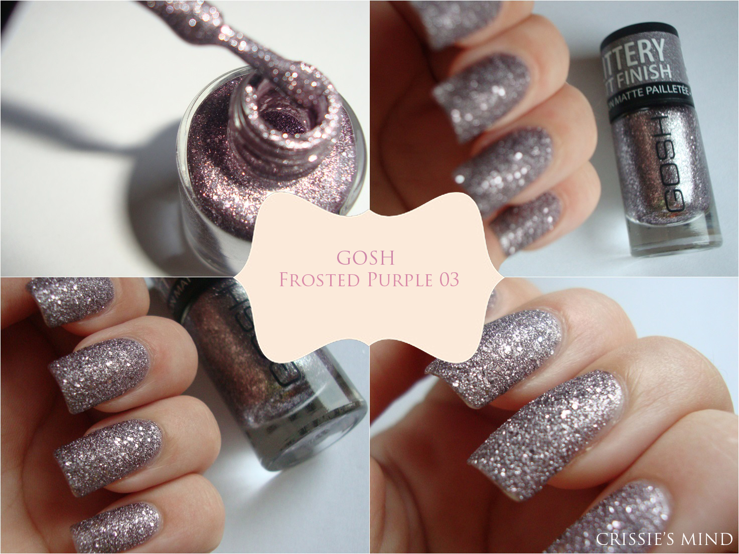 Crissie\'s Mind: NOTD: Frosted Nail Lacquer from GOSH Cosmetics + Review