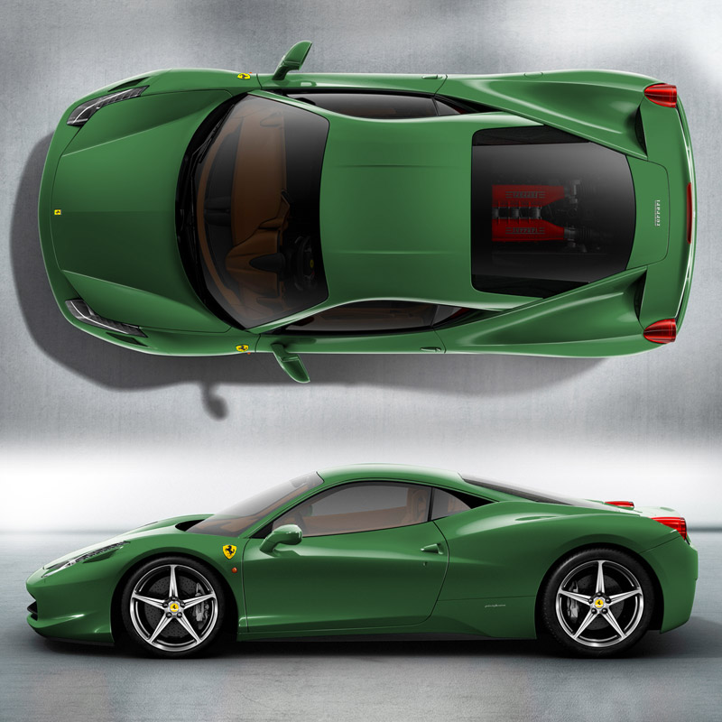 2013 Ferrari 458 Spider Green