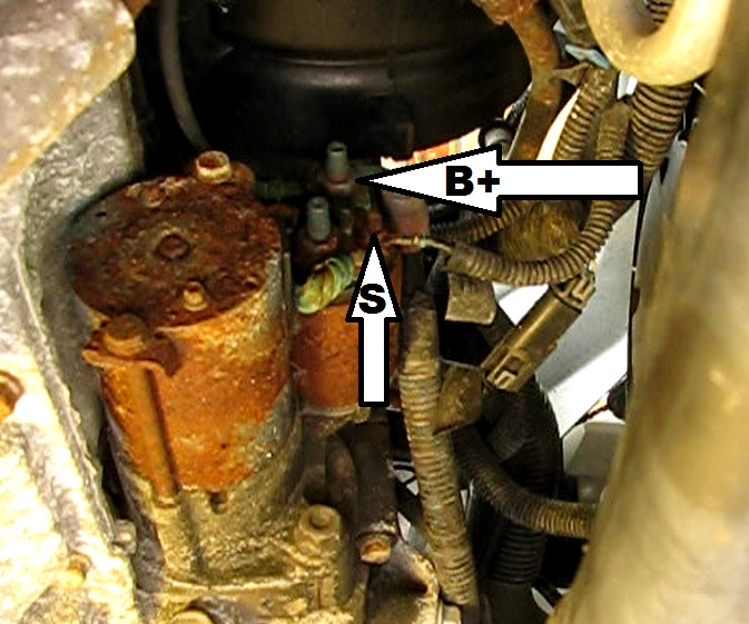 the original mechanic how to replace the starter on a gm 2 2l remove these two nuts to unwire gm left the starter studs unprotected from the elements