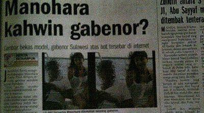Manohara Menjadi Berita Utama Koran Malaysia