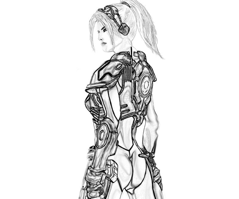 Starcraft ii heart of the swarm nova armored surfing for Starcraft coloring pages