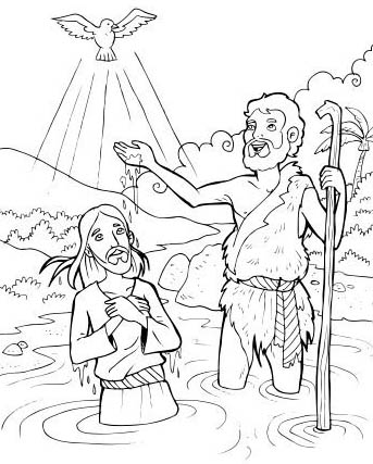 Compartiendo por amor: Dibujos Bautismo de Jesús