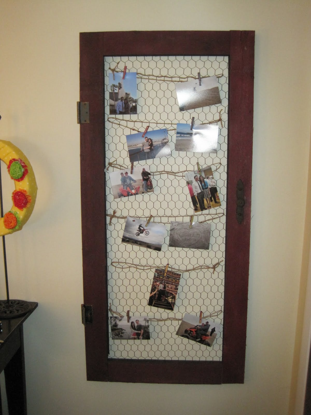 Hand Crafted Furniture Screen Door Wall Decor 50