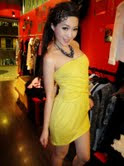 Xuesha in VS inspired mustard yellow heartshaped bustier!