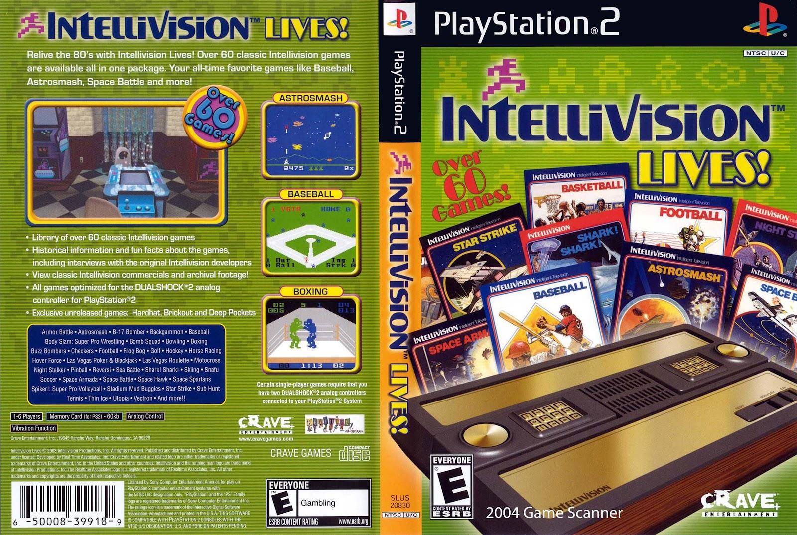 End PS2 Games Melhor Blog de PS2: Intellivision Lives! – PS2