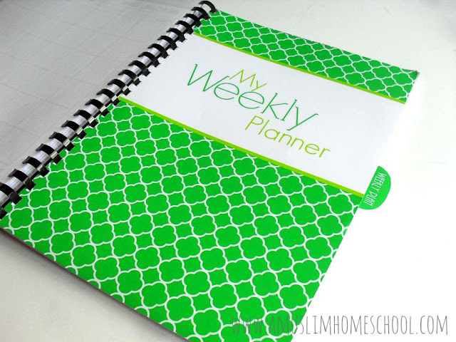 weekly planner for the Home School Planner
