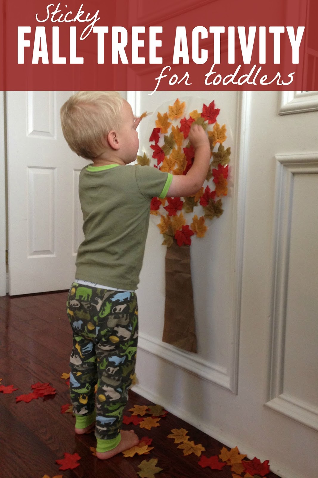 Toddler approved easy fall tree activity for toddlers for Fall craft ideas for toddlers