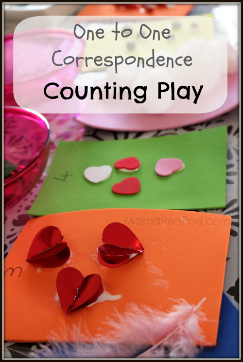 one-to-one correspondence counting play practice