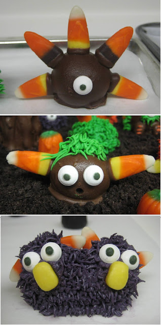 Halloween Little Monster Cake Balls - Individual Close-Up View Collage 2