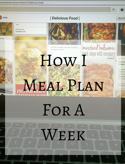 How I Meal Plan- postgradandgingham.blogspot.com