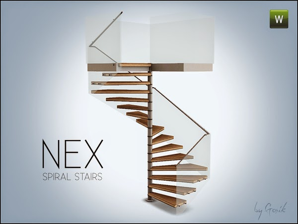 My sims 3 blog gosik 39 s nex square spiral stairs for Spiral staircase square