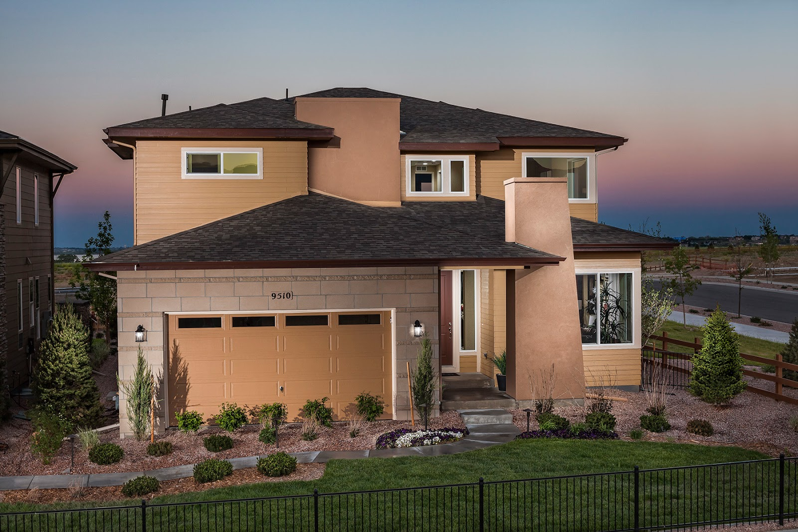 This beautiful modern home built by century communities at candelas in aurora is in the running for detached home of the year