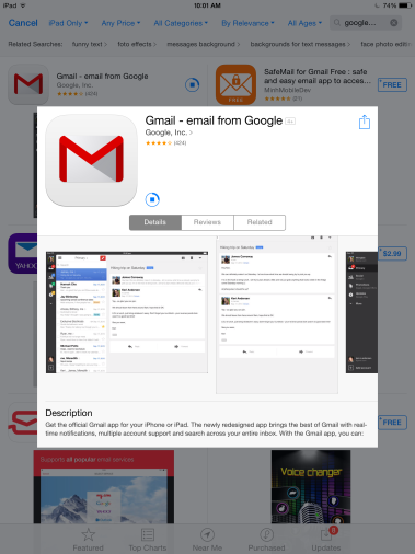 how to download gmail app on iphone