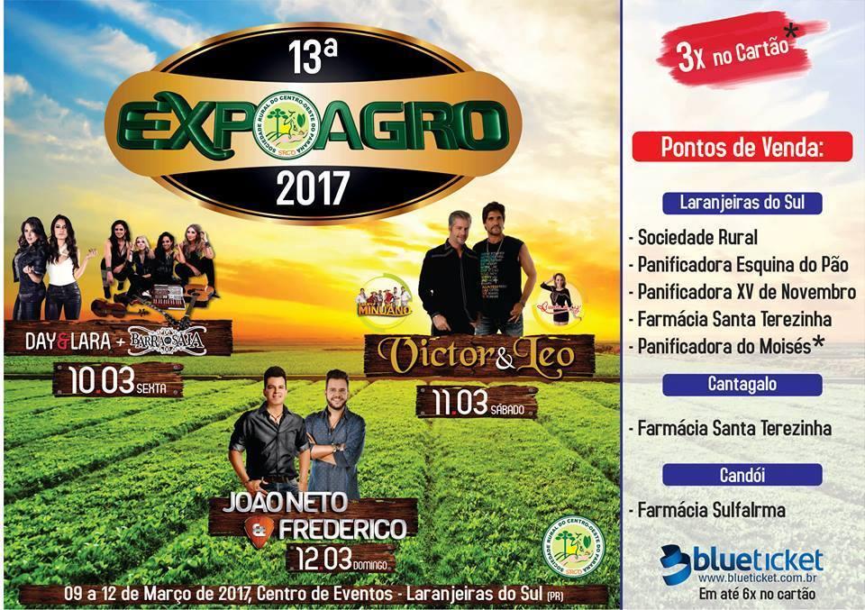 13ª EXPOAGRO  09 a 12 Março de 2017