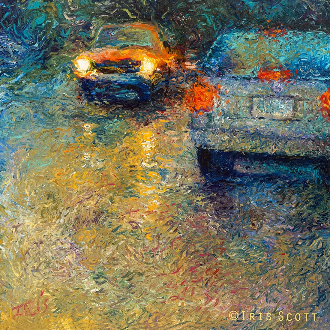 14-Volkswagen-Blue-Iris-Scott-Finger-Painting-Fine-Art-www-designstack-co