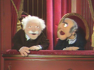 Waldorf and Statler peanut gallary Muppet Show old guys