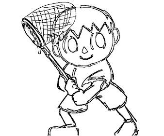 #9 Villager Coloring Page