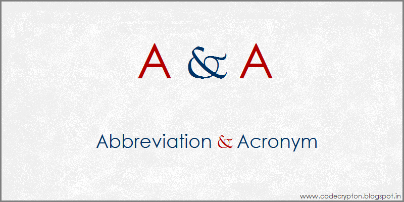 And abbreviation