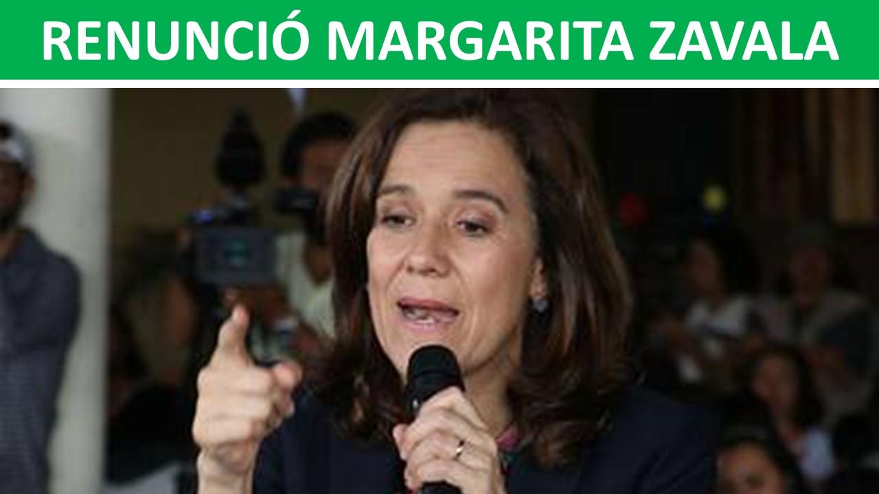RENUNCIÓ MARGARITA ZAVALA