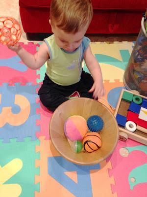 treasure basket - balls