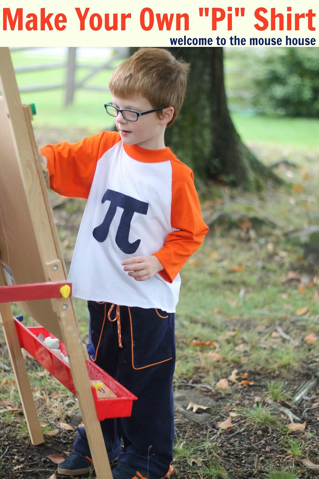 Make A Pi Symbol Shirt Tutorial Welcometothemousehouse