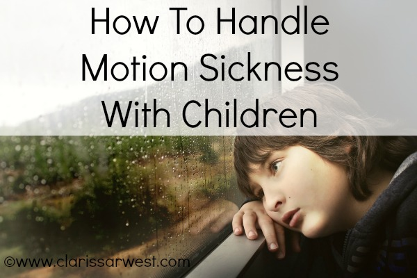 We've come up with a few solutions to making a trip in the van more manageable with children who are sensitive to motion sickness.
