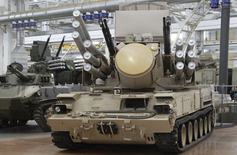 Pantsir Pantsyr S1 SA-22 Greyhound air defense missile gun system ...