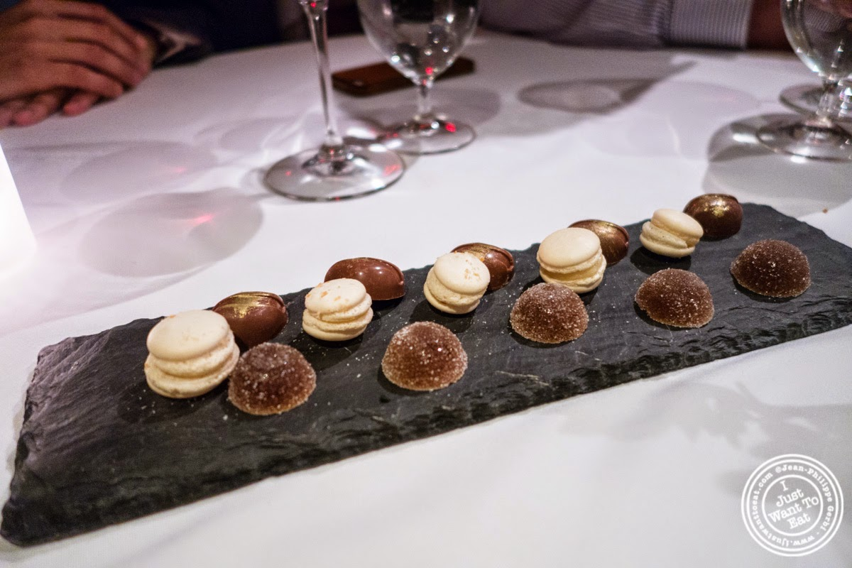 image of petits fours at Dovetail in New York, NY