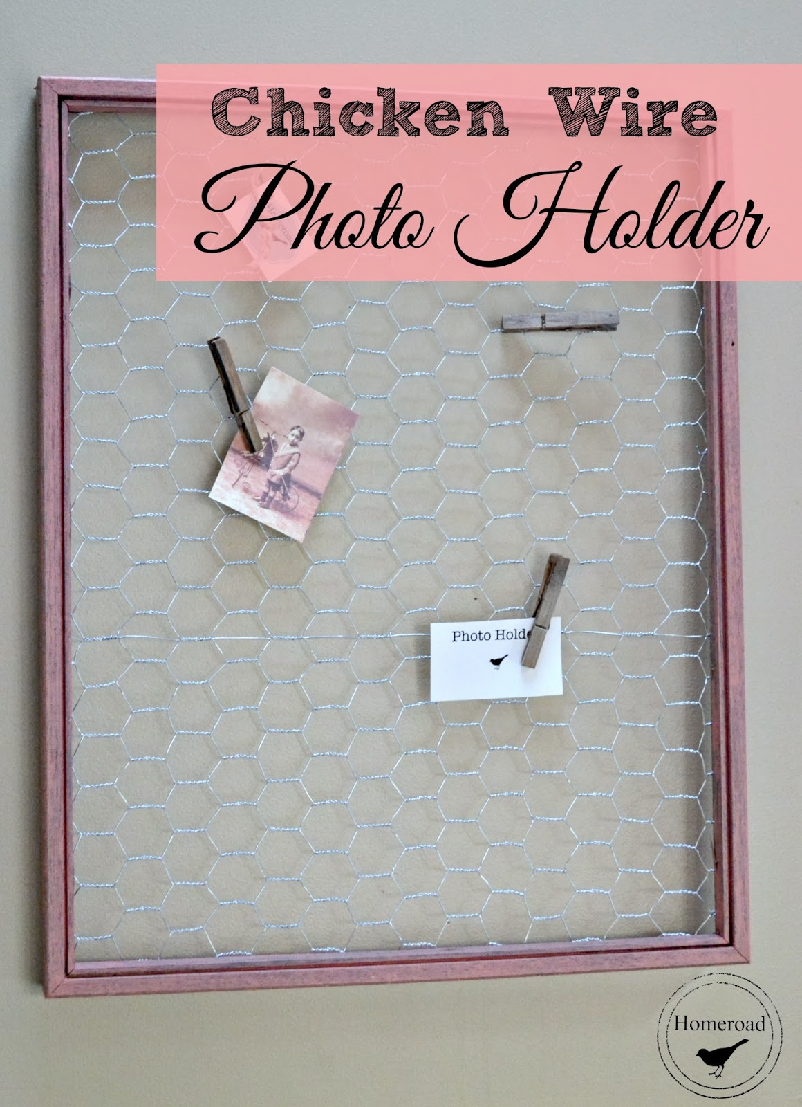 chicken wire photo holder www.homeroad.net