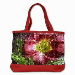 NEW!! Mosaic Day Lily Shoulder Bag