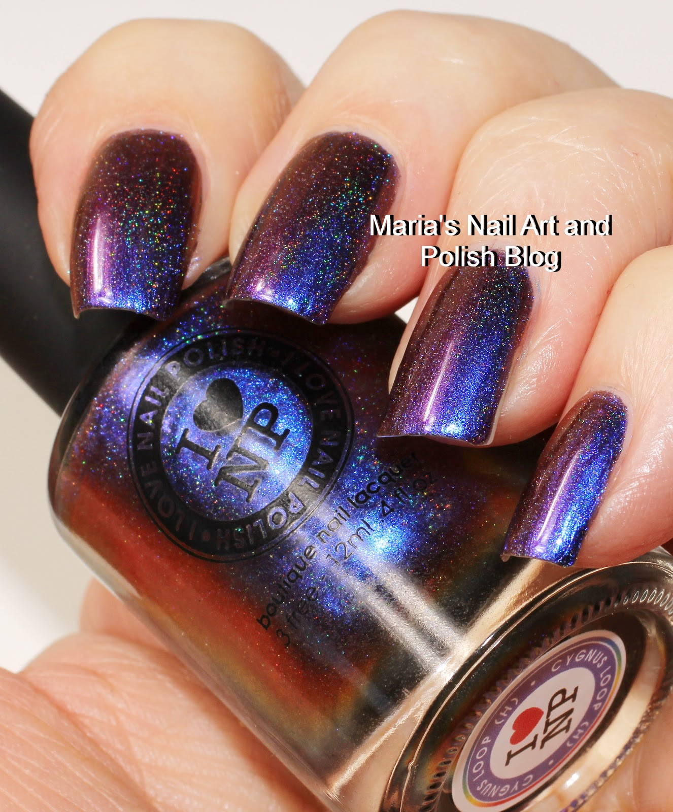 Marias Nail Art And Polish Blog Flushed With Stripes And: Marias Nail Art And Polish Blog: ILNP Birefringence (H