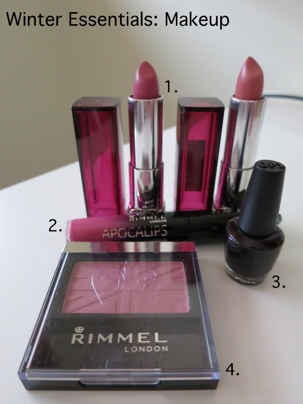 My winter essentials makeup, in darker plum and berry colours