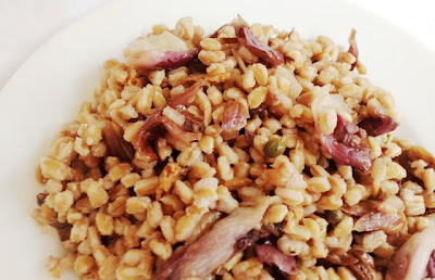 Mediterranean Farro Salad With Grilled Radicchio And Anchovy Vinaigrette recipe