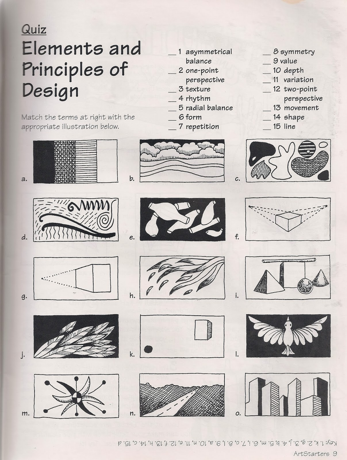 worksheet Elements And Principles Of Art Worksheet no corner suns the elements and principles of art free quiz i copied this from ande cooks starters a mini colorful one page handout quizzing your class on what they know about element