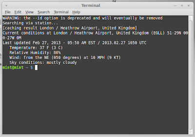 Get weather info in the Linux terminal