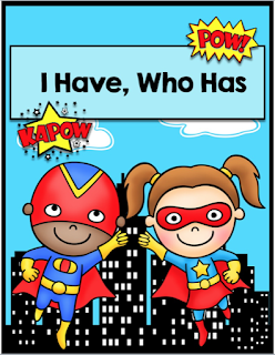 Multiplication Superheroes I Have, Who Has + Multropolis Board Game