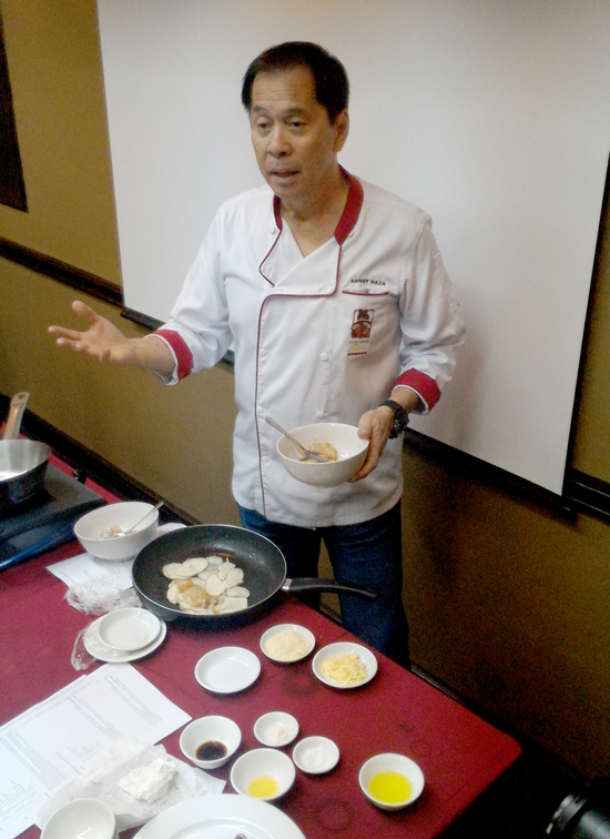 Chef Sandy Daza for a special US potato cooking exhibition  at Waterfront Insular Hotel, Davao City