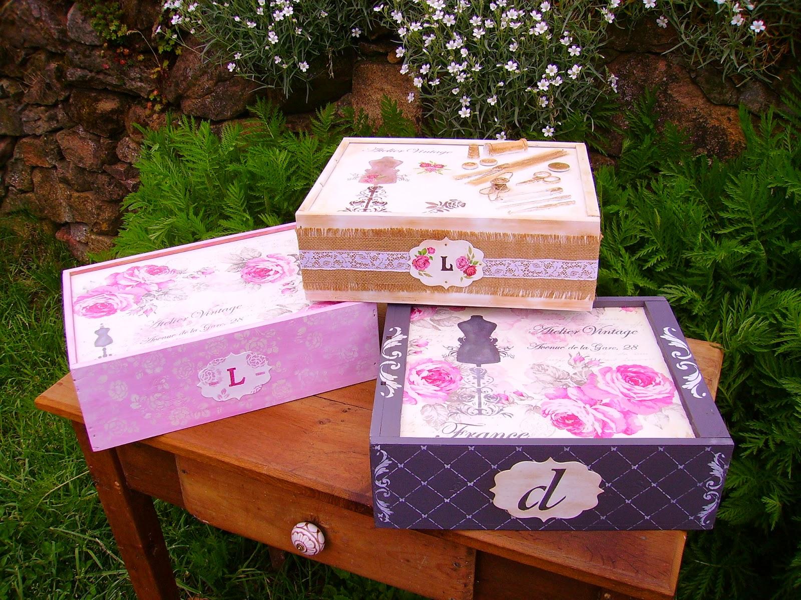 Retazos de madera cajas de vino - Madera para decoracion ...