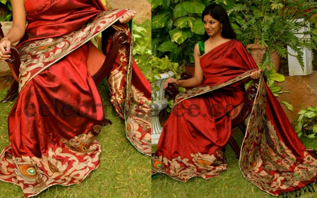 One Side Border Kanchi Pattu Saree