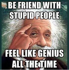 Be Friend With Stupid People-funny picture