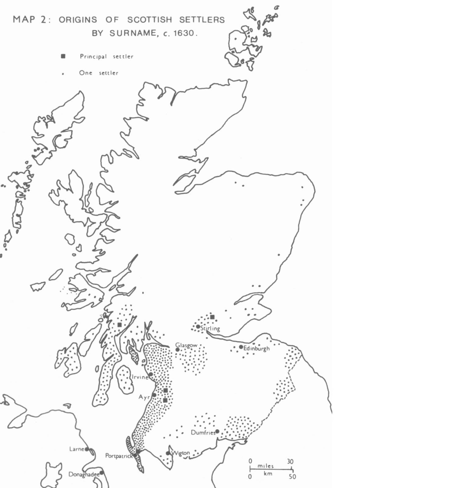 figure 1 3 1 1 the distribution of scottish settlers emigrating to northern ireland during the colonial period the land of fulton was just to the west of