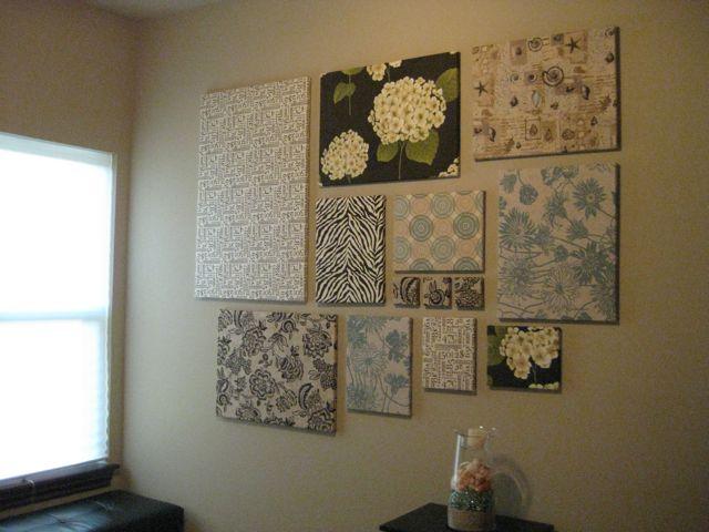 Fabric Panel Wall Art : Beau fleurs adventures in crafting diy wall art fabric