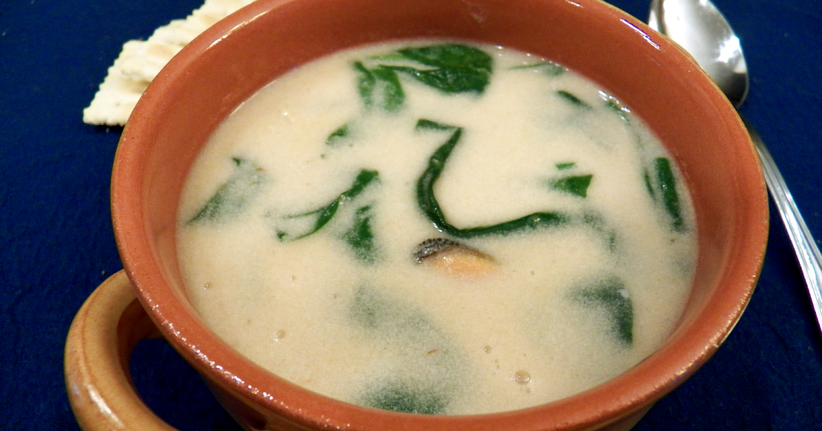 How Do You Cook.com: Mussel and Spinach Bisque