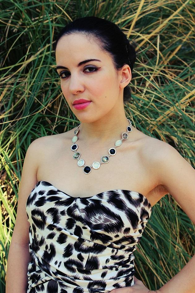Black and White Animal Print Dress