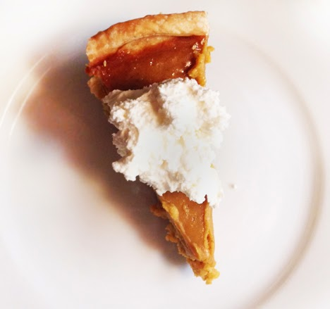 Pumpkin Pie with Vanilla Whipped Cream | A Good Hue