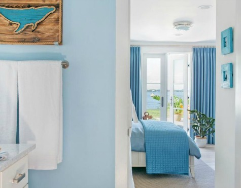 Ocean Blue Bathroom and Bedroom  Ocean Inspired Ideas from HGTVs Coastal  Dream House 2016 in. Ocean Colors Bedroom